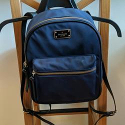 Kate Spade Bags | Euc Kate Spade Bradley Backpack (Small) | Color: Black/Blue | Size: Os