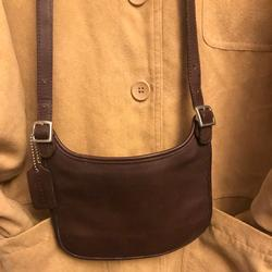 Coach Bags | Coach Slimline Brown Leather Crossbody | Color: Brown | Size: Small Slimline