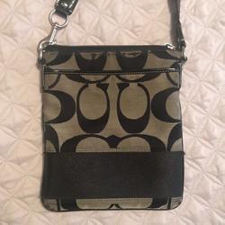 Coach Bags   Coach Crossbody Canvas Messenger Bag   Color: Black   Size: Os