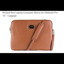 Michael Kors Bags | Micheal Kors Laptop Computer Sleeve Macbook Pro | Color: Tan | Size: Os