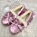 J. Crew Shoes | J. Crew Crewcuts Pink Metallic Moccasin | Color: Pink | Size: 11g