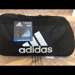 Adidas Bags | New Adidas Diablo Duffel Sport Bag | Color: Black/Silver | Size: Os