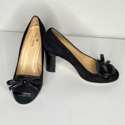 Kate Spade Shoes | Kate Spade Black Closed Toe Block Heel With Bows | Color: Black | Size: 5