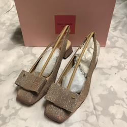 Kate Spade Shoes | Kate Spade Sienna Bow Block Heel Sling Pumps | Color: Pink | Size: 9