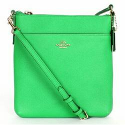 Coach Bags | Coach North South Cross Body Green Leather Bag Nwt | Color: Gold/Green | Size: Apx 8 14 Height 7 34 Width 1 Depth