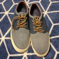 Polo By Ralph Lauren Shoes | Euc Polo Denim Loafer Canvas Leather Wlaceups 12d | Color: Blue/White | Size: 12