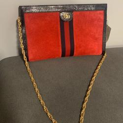 Gucci Bags | Gucci Red Suede Ophidia Shoulder Bag | Color: Red | Size: Os