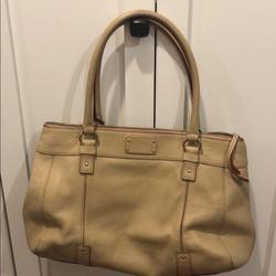 Kate Spade Bags   Kate Spade Leather Bag In Tandark Cream Leather   Color: Cream/Tan   Size: Os