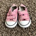 Converse Shoes   Girls Converse Velcro Shoes Size 7 Toddler   Color: Pink   Size: 7bb
