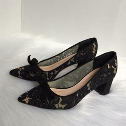 Kate Spade Shoes | Kate Spade New York Block Heels Laced Bow Black | Color: Black | Size: 8