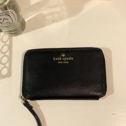 Kate Spade Bags   Kate Spade Leather Wristlet Wallet Card Phone   Color: Black   Size: Os