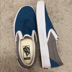 Vans Shoes | Custom Blue And Gray Vans | Color: Blue/Gray | Size: 7