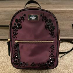 Kate Spade Bags   Kate Spade Embellished Small Bradley Backpack   Color: Purple   Size: Os