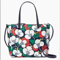 Kate Spade Bags | Kate Spade Satchel Breezy Floral Tote | Color: White | Size: 13.5x10x5