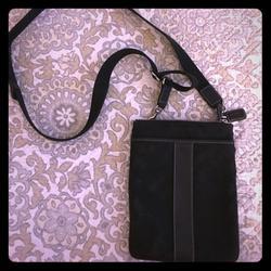 Coach Bags   Coach Messenger Crossbody Monogram Canvas Bag   Color: Black   Size: 8 X 6.5