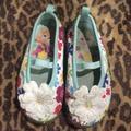 Disney Shoes | Disney Kids Girls Floral Fabric Shoes Size 7 Flowe | Color: Blue | Size: 7bb