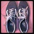 Vans Shoes | Heather Blue Grey Vans Sneakers | Color: Blue/Silver | Size: 9.5