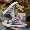 Converse Shoes | Converse Chuck Taylor All Star Satin Hi Top | Color: Blue/Pink | Size: 7