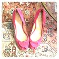 Kate Spade Shoes   Kate Spade Heart Pink Suede Peep Toe Pumps   Color: Pink   Size: 10