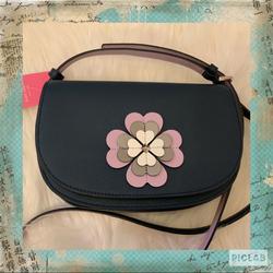 Kate Spade Bags   Kate Spade Reiley Flower Appliqu Flap Crossbody   Color: Blue   Size: Os