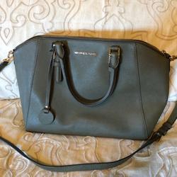 Michael Kors Bags | Michael Kors Ciara Large Zip Tip Handbag | Color: Green | Size: Large