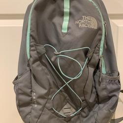 The North Face Bags   Mint Green And Grey North Face Jester Backpack.   Color: Gray   Size: North Face Jester Backpack