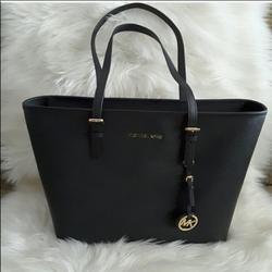 Michael Kors Bags | Michael Kors Black Mini Tote Bag With Dust Bag | Color: Black | Size: Os