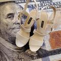 Nine West Shoes | Nine West Shoe S | Nine West Wedge Sandal Sz 8 | Color: Cream/White | Size: 8