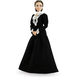 Barbie Inspiring Women Series Susan B. Anthony Collectible Doll, 12-in, Wearing Black Dress and Cameo Brooch, with Doll Stand and Certificate of Authenticity