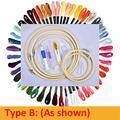 50 Couleurs Broderie Écheveaux Kit De Couture Broderie Point De Croix Aiguille Outil Bricolage Tricot Couture Ensembles De Couture-Type B