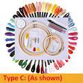 50 Couleurs Broderie Écheveaux Kit De Couture Broderie Point De Croix Aiguille Outil Bricolage Tricot Couture Ensembles De Couture-Type C