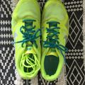 Nike Shoes | Nike Neon Yellow Tennis Shoes W 2 Sets Of Laces | Color: Yellow | Size: 9