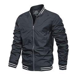 Baseball Jacket Men Bomber Jacket Men Varsity Jacket Men Lightweight Jacket Casual Jacket Light Jacket Aviator Jackets Windbreaker Jacket Spring Outerwear Jackets Pilot Jacket