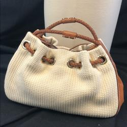 Kate Spade Bags | Kate Spade Mini Bag With Braided Handles | Color: Cream/Tan | Size: 7x11x4.6 Handle Drop 5 (All Approx)