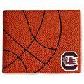 South Carolina Gamecocks Basketball Leather Bi-Fold Wallet