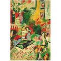 Swarouskll Henri Matisse oeuvre abstraite fille lecture Reproduction peinture sur toile affiche et impressions mur Art photo chambre décor-20X32 sans cadre