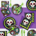 Creative Converting Day of the Dead Deluxe Party Supplies Kit for 24 GuestsPaper/Plastic in Black/White   Wayfair DTC4898E2B