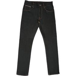 Lean Dean Denim Jeans - Dry Japanese Selvedge 112019 Colou - Black - Nudie Jeans Jeans