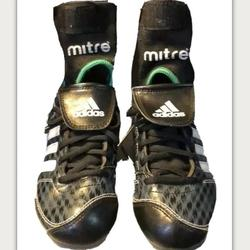 Adidas Shoes   Adidas Sports Cleats & Mitre Ankle Support Size 1y   Color: Black   Size: 1b