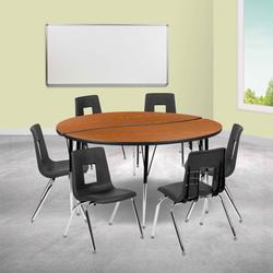 Flash Furniture 8 Piece Adjustable Height Circular Activity TableLaminate/Metal, Size 30.2 H x 60.0 W x 60.0 D in | Wayfair