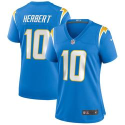 Women's Nike Justin Herbert Powder Blue Los Angeles Chargers 2020 NFL Draft First Round Pick Game Jersey, Size: Medium, Light Blue