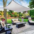 Voile d'ombrage crème solaire Anti-UV Protection 70% imperméable Tissu Oxford extérieur Voile d'ombrage soleil crème solaire net Auvents Jardin Jardin (Color : 3x5m, Size : Grey)