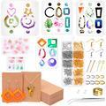 Resin Molds for Jewelry, Shynek Resin Earring Molds Kit with Silicone Earring Resin Molds, Earring Cards, Earring Hooks and Jump Rings for Earring Jewelry Making