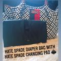 Kate Spade Bags | Kate Spade Diaper Bag W Kate Spade Changing Pad | Color: Black/White | Size: Os