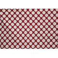 Majisacraft by Yard Tissu imprimé à pois Rouge 100 % coton pour couture couture de couture, 44 cm de large