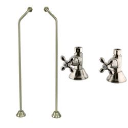 Kingston Brass Clawfoot Tub Double Offset Supply Lines with Shut-Off Valves CC478-CCK44158AX