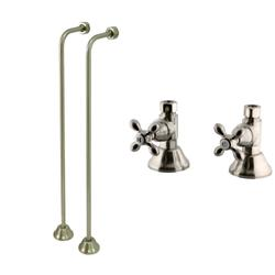 Kingston Brass Clawfoot Tub Single Offset Supply Lines with Shut-Off Valves CC468-CCK44158AX