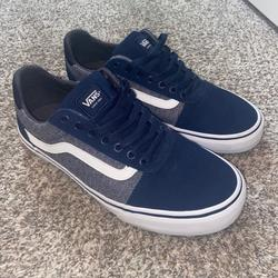 Vans Shoes | Navy Blue And Gray Vans | Color: Blue/Gray | Size: 10