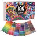 180 crayons à aquarelle professionnels numérotés, avec un pinceau, un raser et un taille-crayon, un ensemble de crayons de couleur pour adulte, des livres de coloriage, des artistes, des croquis