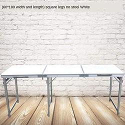 ZRR Table Pliante et Chaise Ensemble Table de Jardin Portable en Alliage d'aluminium Bureau d'affaires Table de Plage Barbecue Table de Pique-Nique, 01